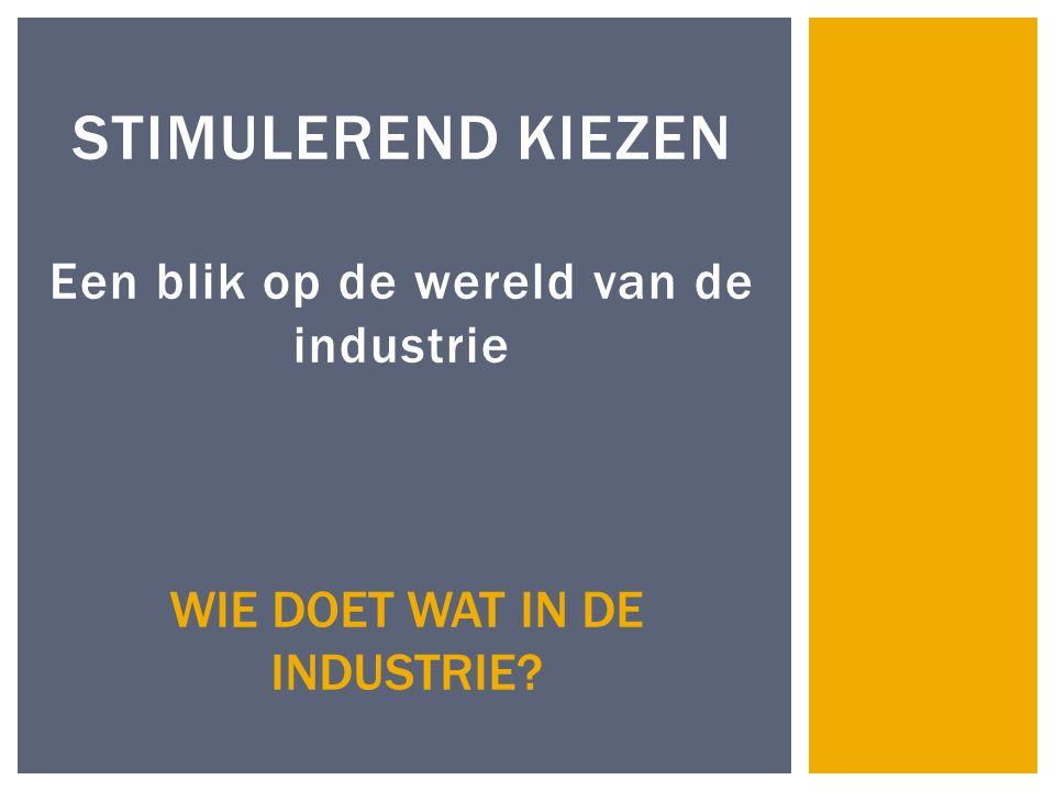 Stimulerend kiezen Een blik op de wereld van de industrie
