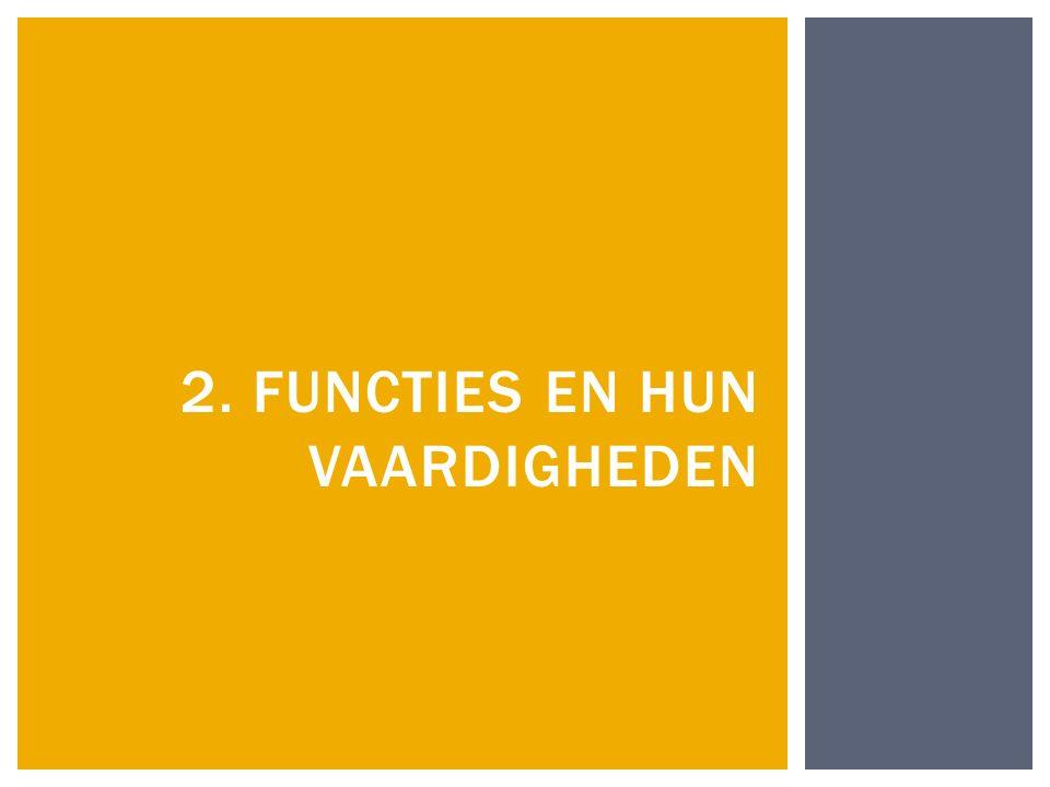 2. Functies en hun vaardigheden