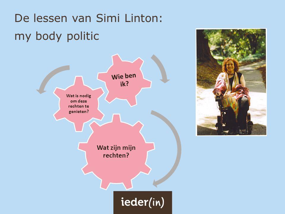 De lessen van Simi Linton: my body politic