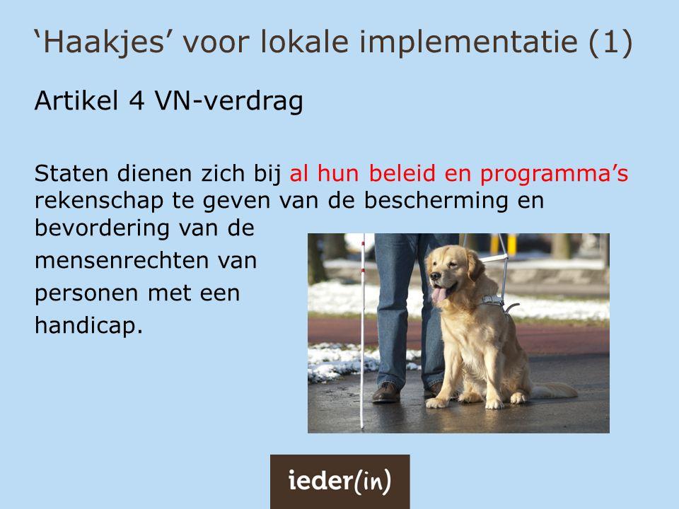 'Haakjes' voor lokale implementatie (1)