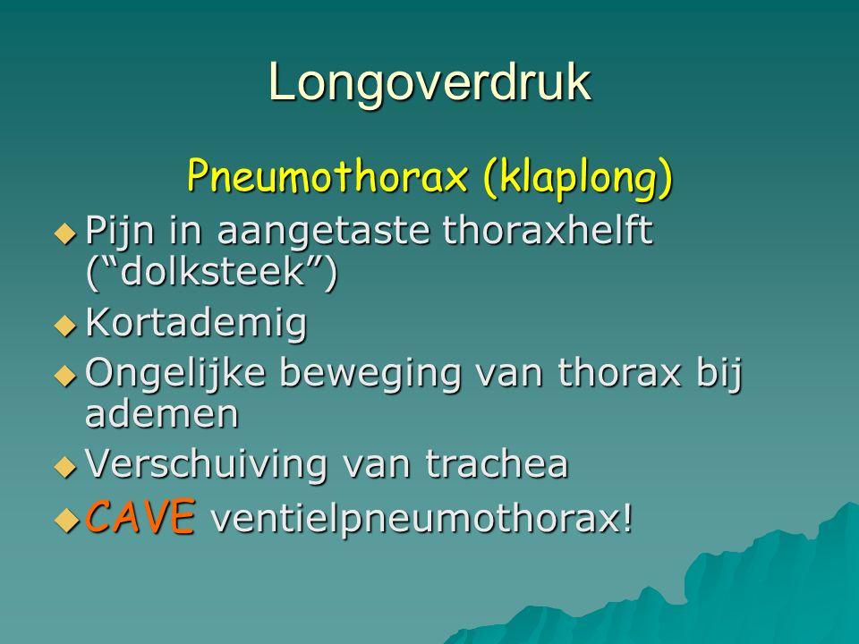 Pneumothorax (klaplong)