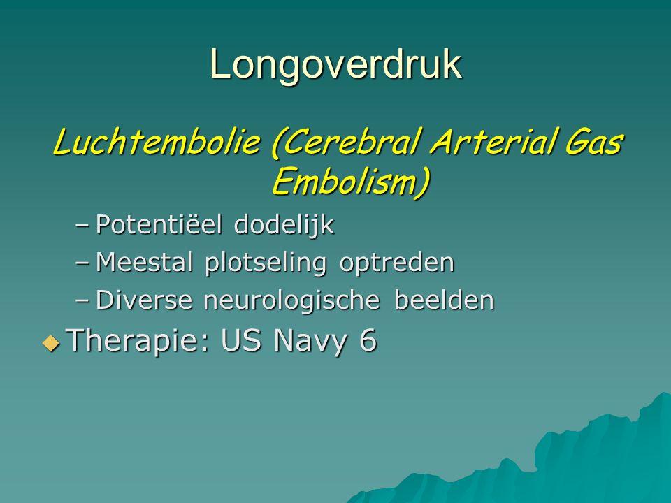 Luchtembolie (Cerebral Arterial Gas Embolism)