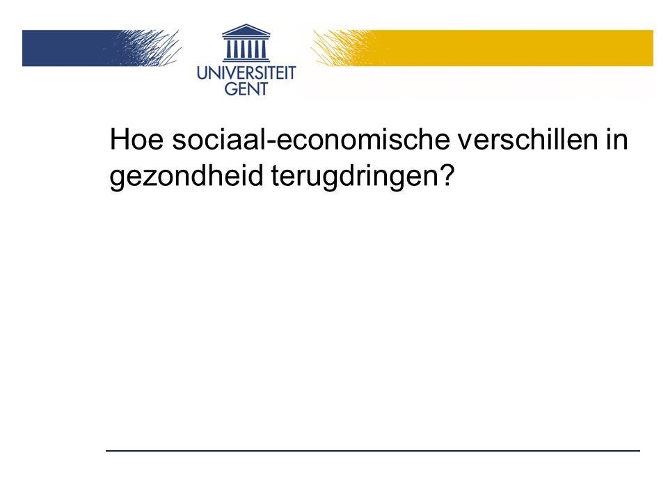 Hoe sociaal-economische verschillen in gezondheid terugdringen