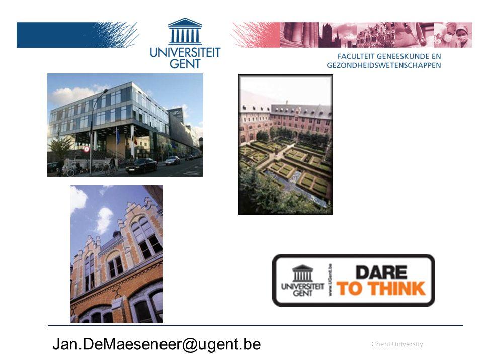 Jan.DeMaeseneer@ugent.be Ghent University