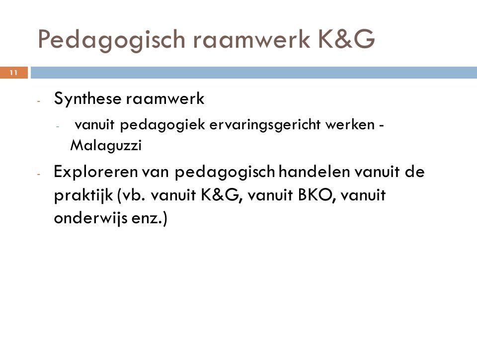 Pedagogisch raamwerk K&G