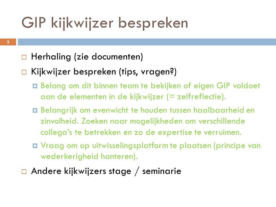 GIP kijkwijzer bespreken
