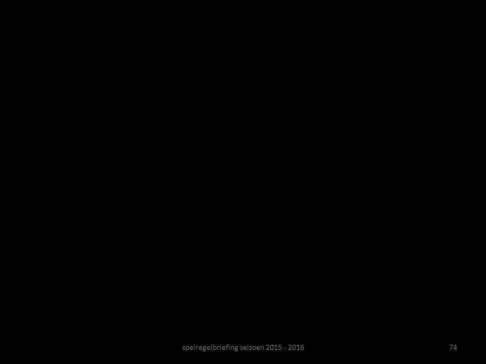 spelregelbriefing seizoen 2015 - 2016