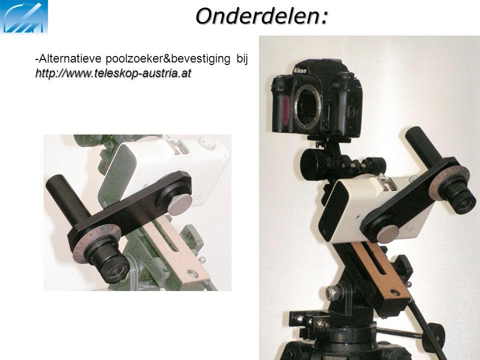 Onderdelen: Alternatieve poolzoeker&bevestiging bij http://www.teleskop-austria.at