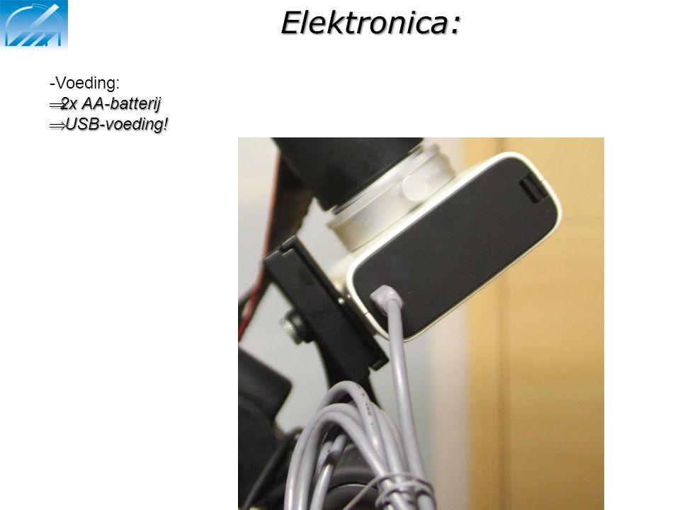 Elektronica: Voeding: 2x AA-batterij USB-voeding!