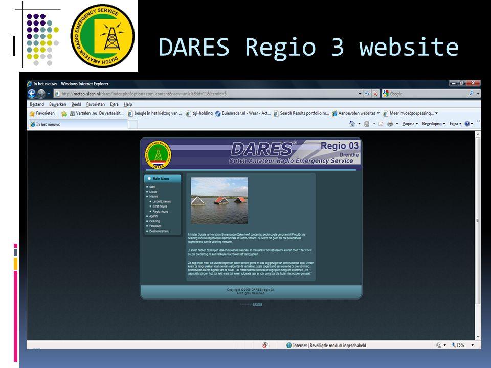 DARES Regio 3 website
