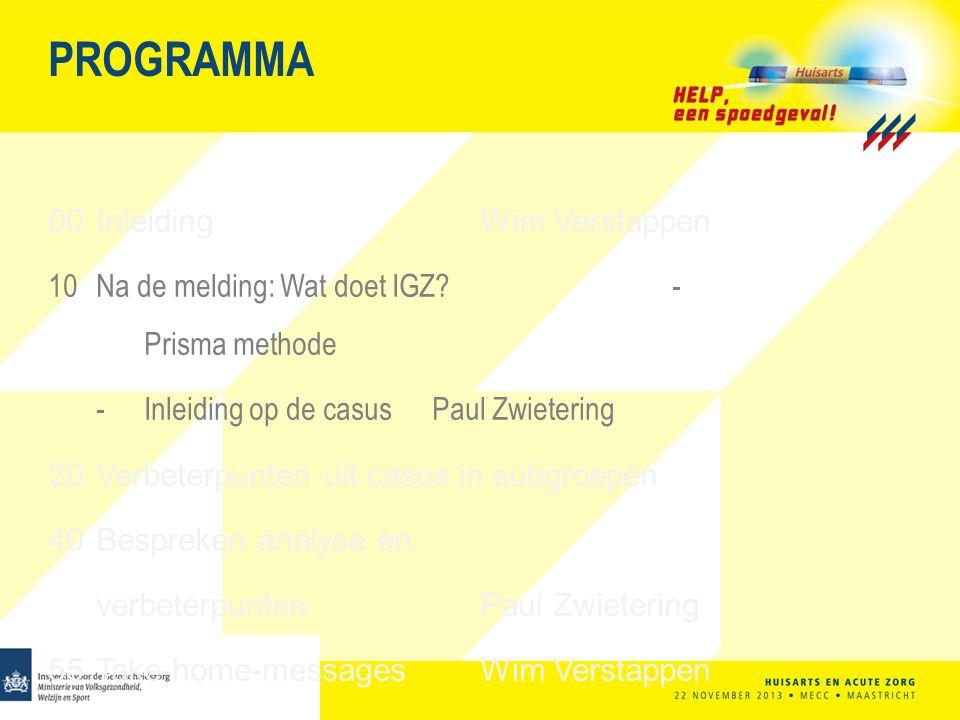 PROGRAMMA 00 Inleiding Wim Verstappen