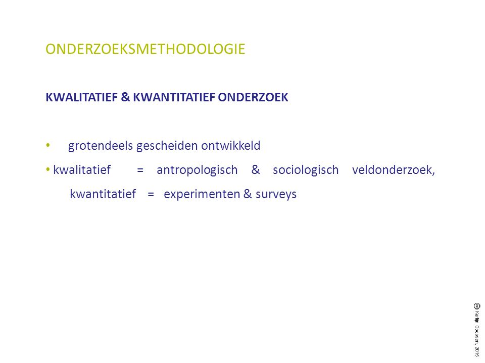 ONDERZOEKSMETHODOLOGIE