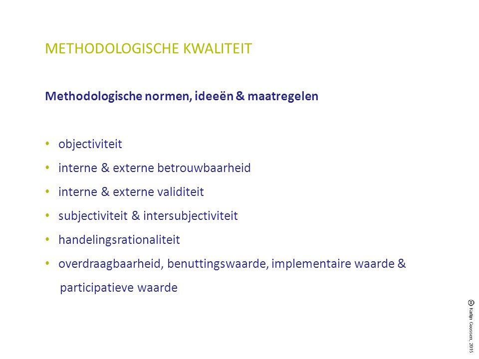 METHODOLOGISCHE KWALITEIT