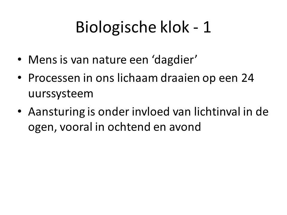 Biologische klok - 1 Mens is van nature een 'dagdier'