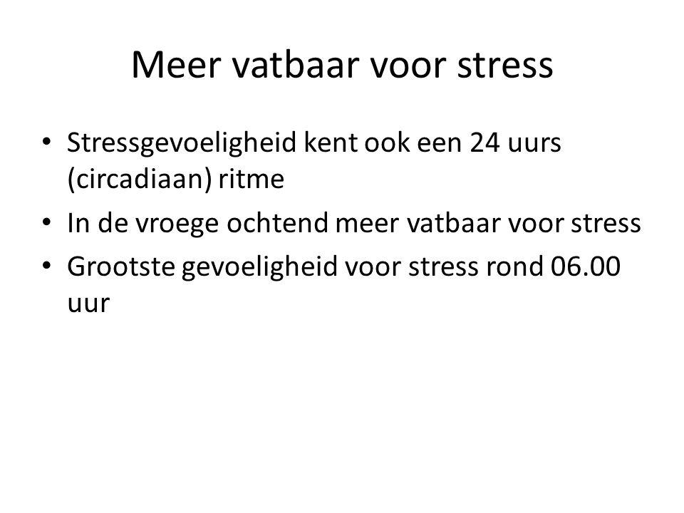 Meer vatbaar voor stress
