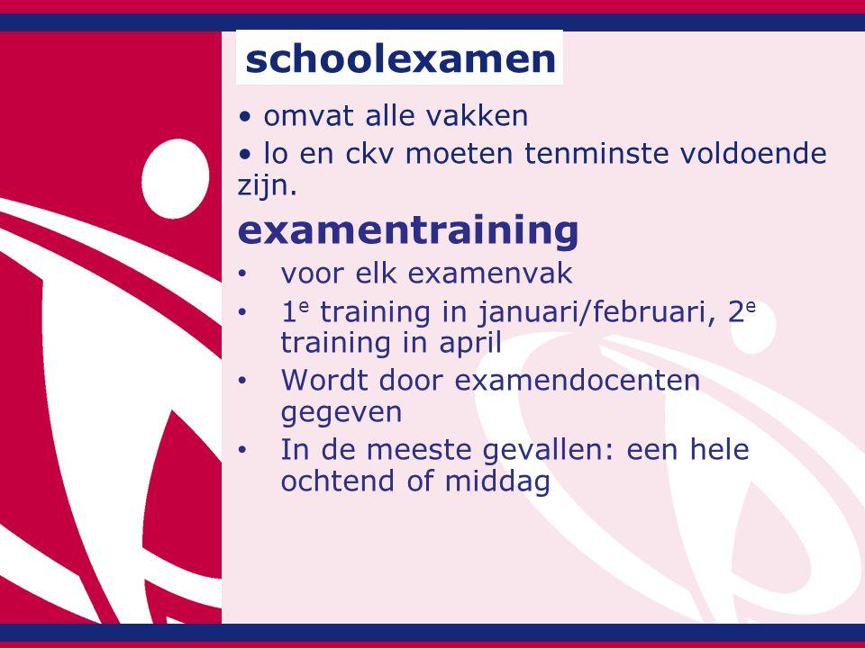 schoolexamen examentraining omvat alle vakken
