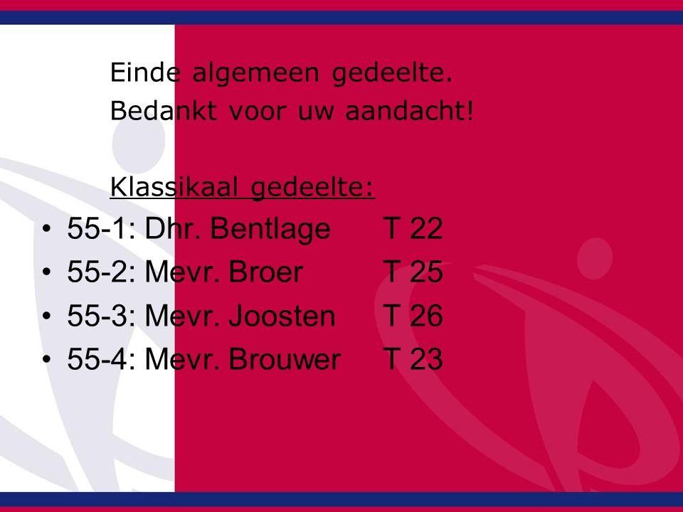 55-1: Dhr. Bentlage T 22 55-2: Mevr. Broer T 25