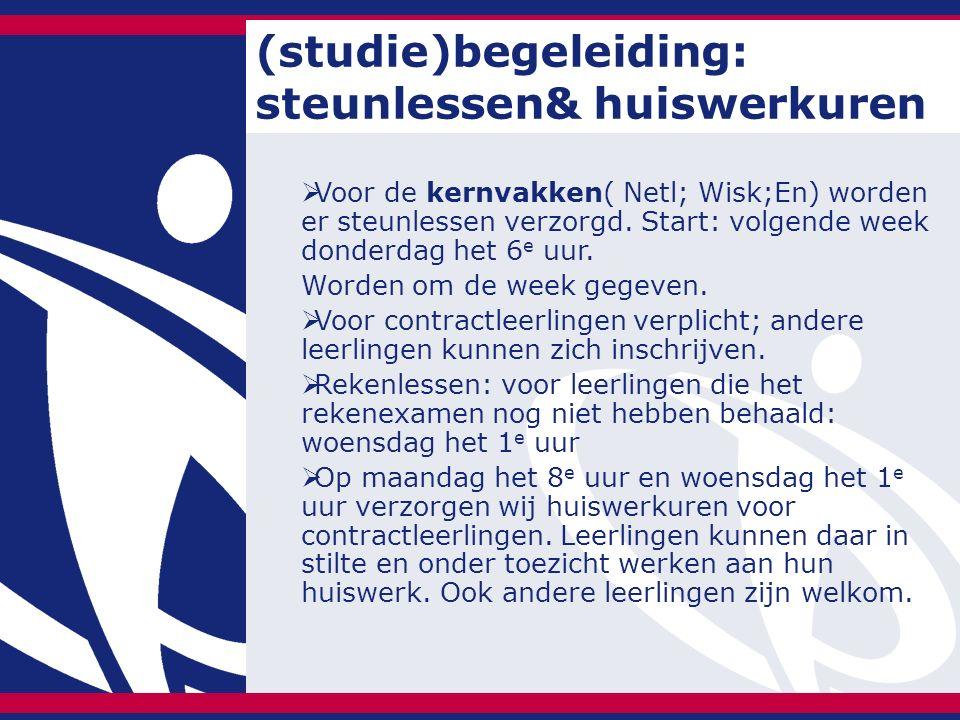 (studie)begeleiding: steunlessen& huiswerkuren