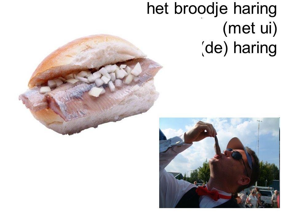 het broodje haring (met ui) (de) haring