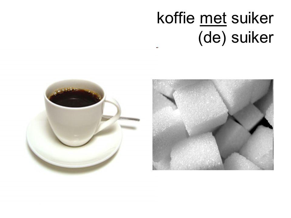 koffie met suiker (de) suiker