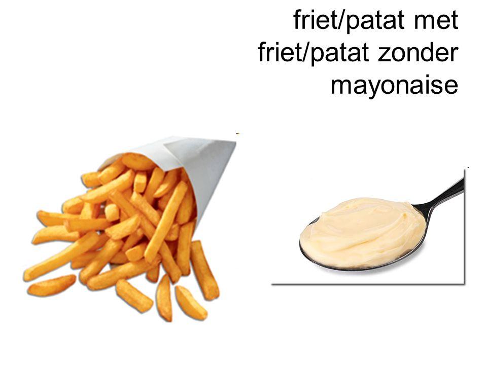 friet/patat met friet/patat zonder mayonaise