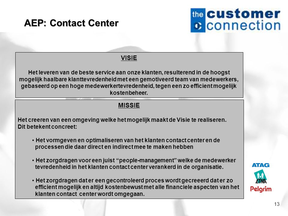 AEP: Contact Center VISIE MISSIE
