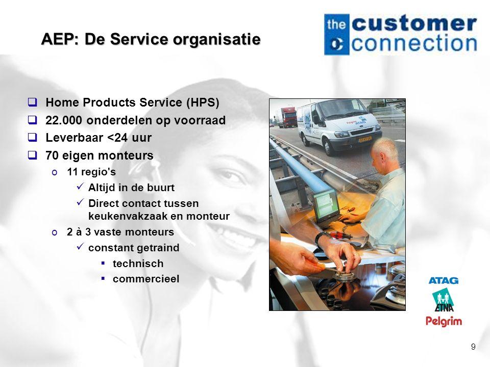 AEP: De Service organisatie
