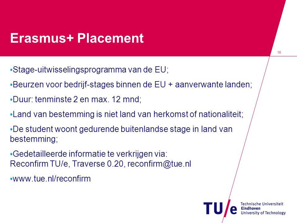 Erasmus+ Placement Stage-uitwisselingsprogramma van de EU;