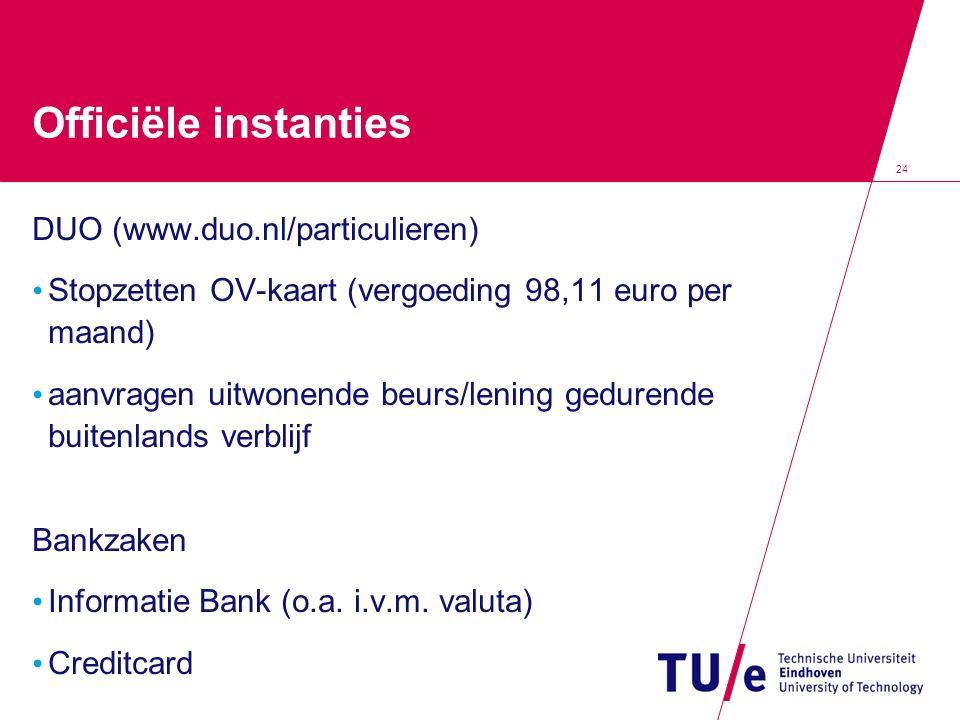 Officiële instanties DUO (www.duo.nl/particulieren)