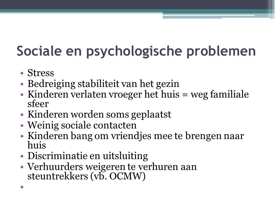 Sociale en psychologische problemen