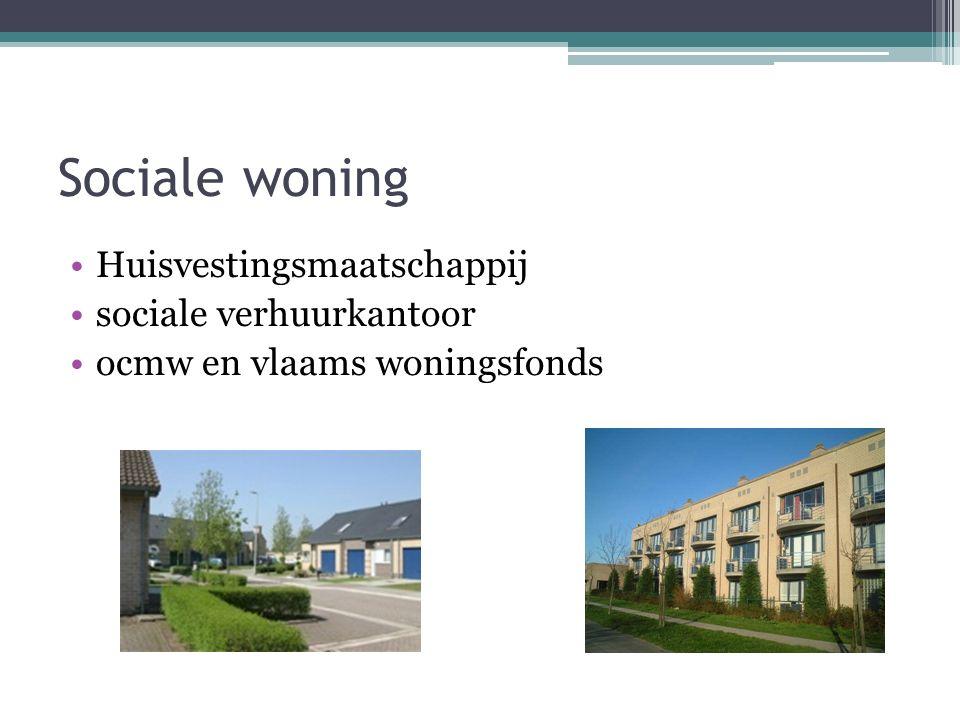 Sociale woning Huisvestingsmaatschappij sociale verhuurkantoor