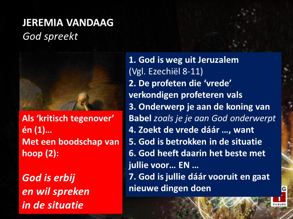 JEREMIA VANDAAG God spreekt