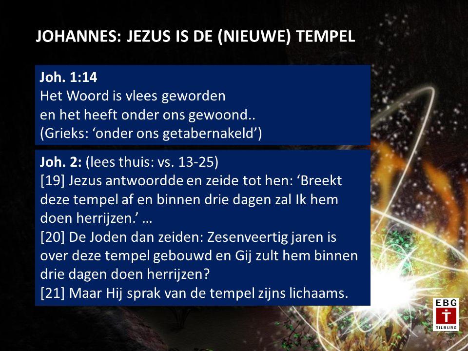 JOHANNES: JEZUS IS DE (NIEUWE) TEMPEL