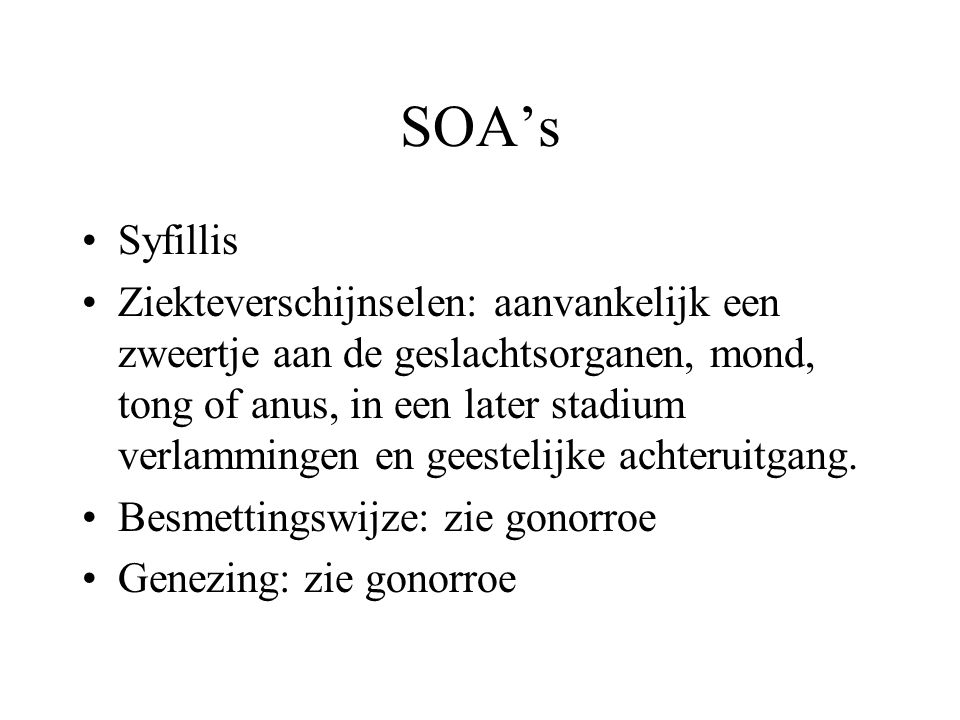SOA's Syfillis.