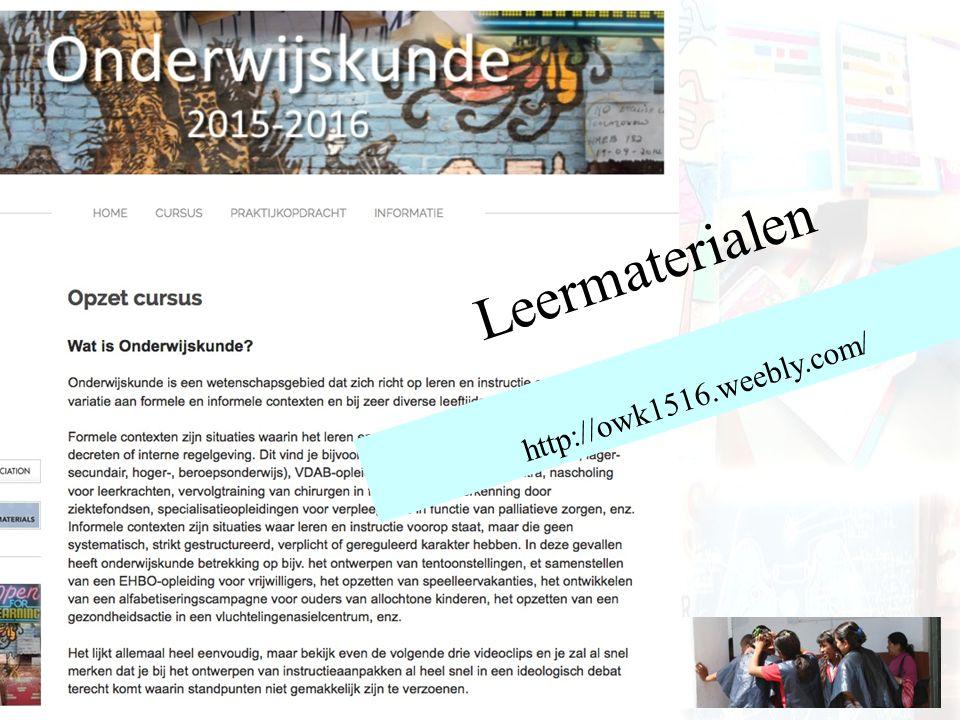 Leermaterialen http://owk1516.weebly.com/