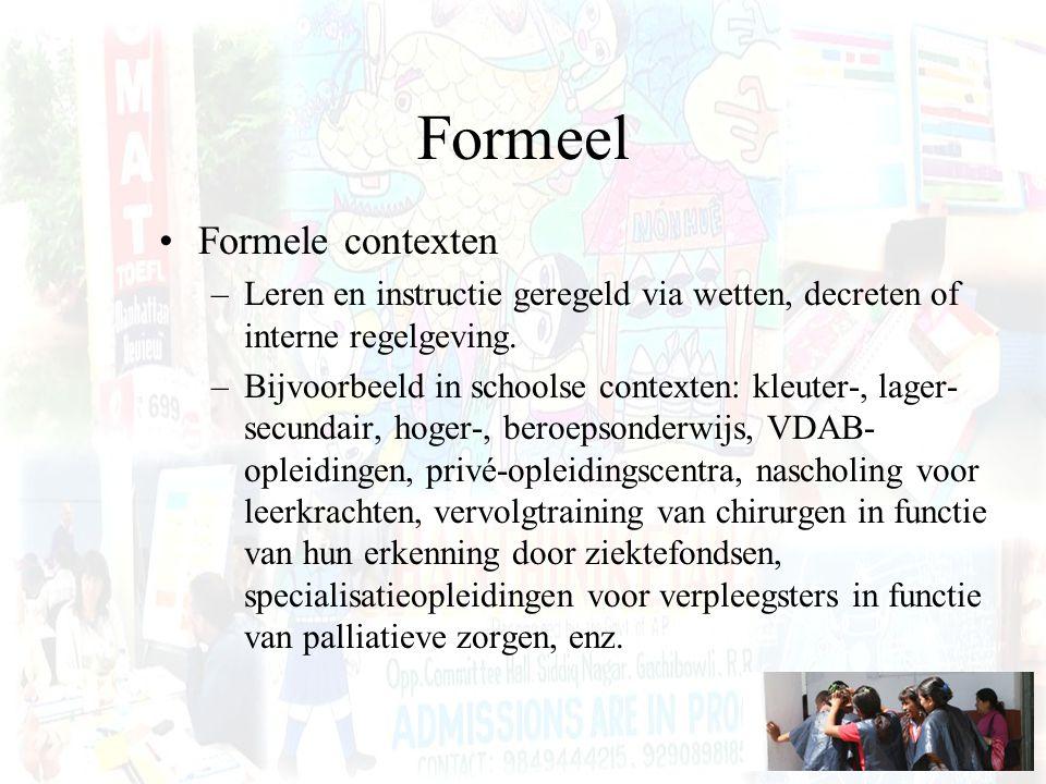 Formeel Formele contexten