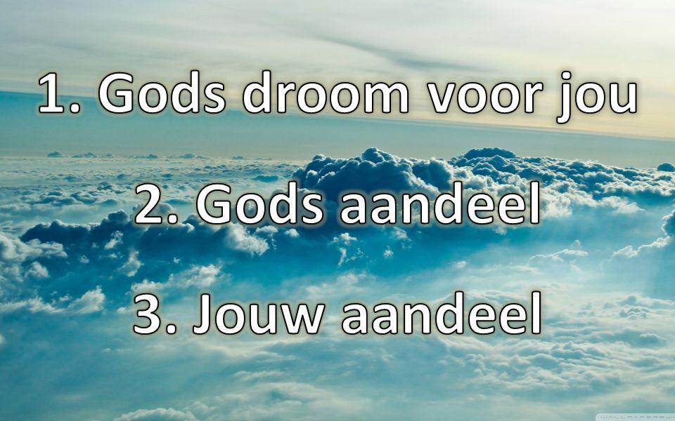 Gods droom voor jou Gods aandeel Jouw aandeel