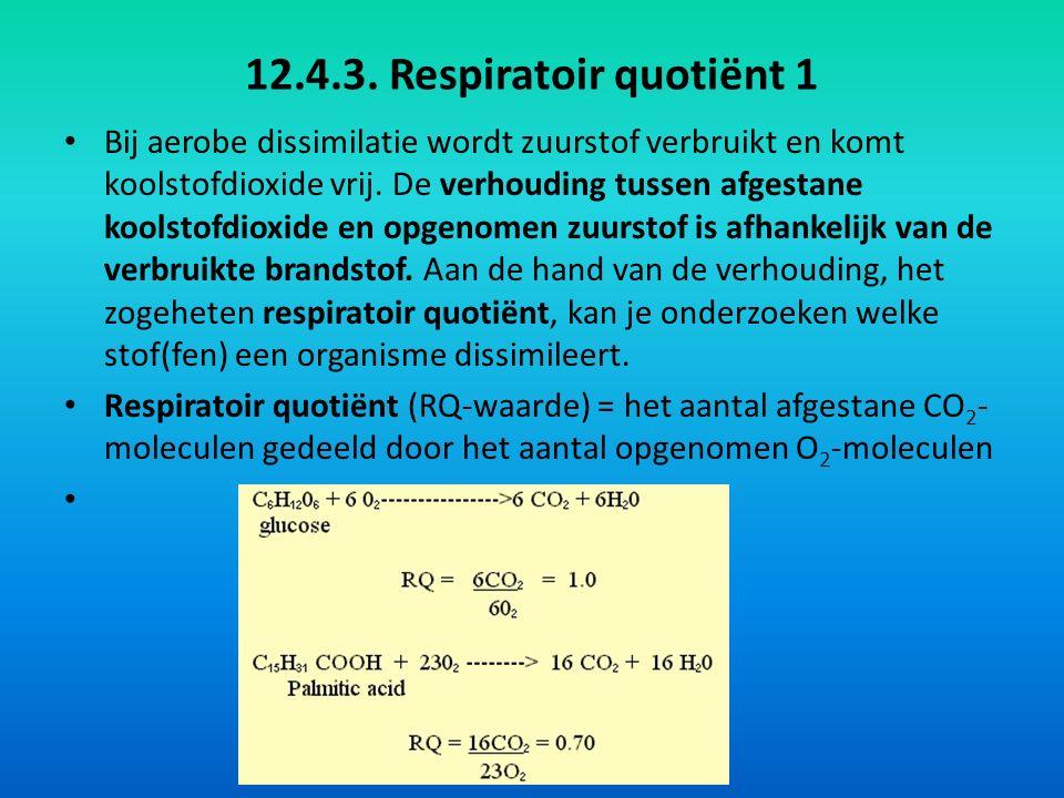 12.4.3. Respiratoir quotiënt 1