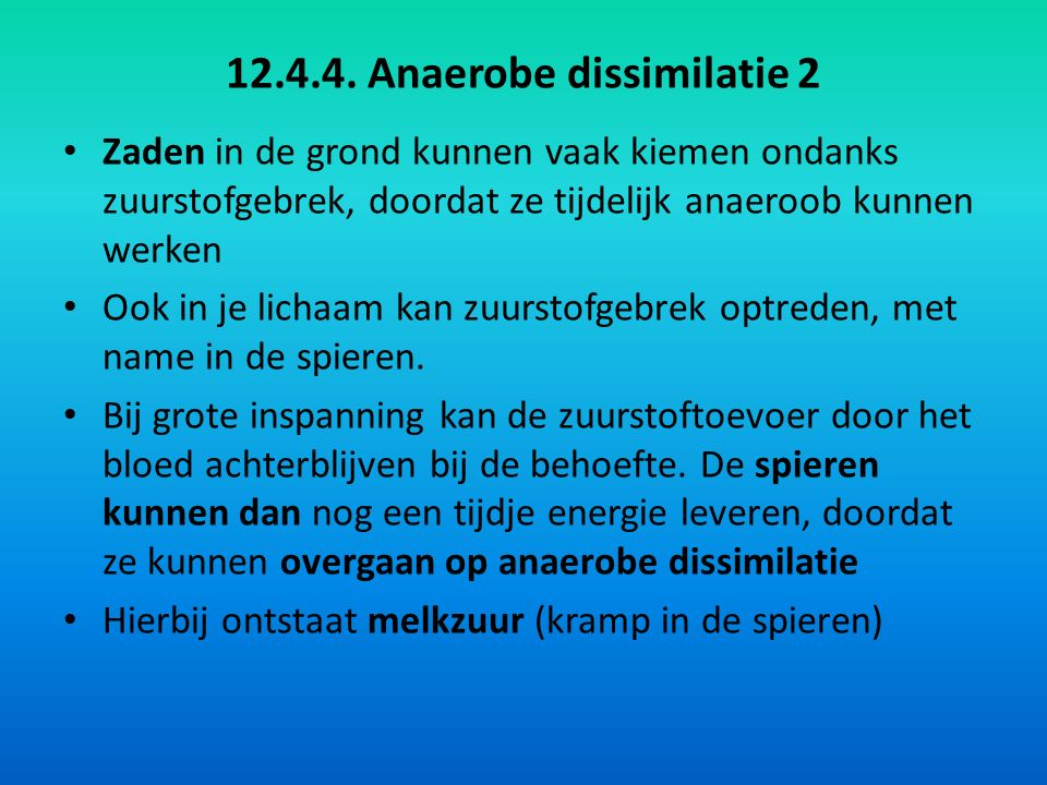 12.4.4. Anaerobe dissimilatie 2