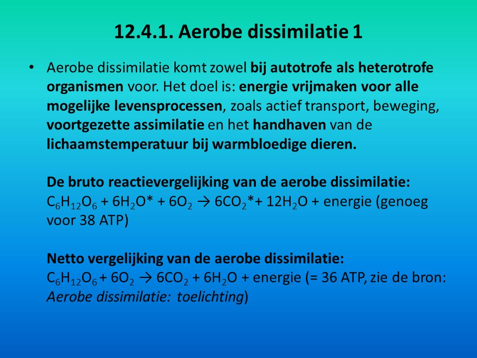 12.4.1. Aerobe dissimilatie 1