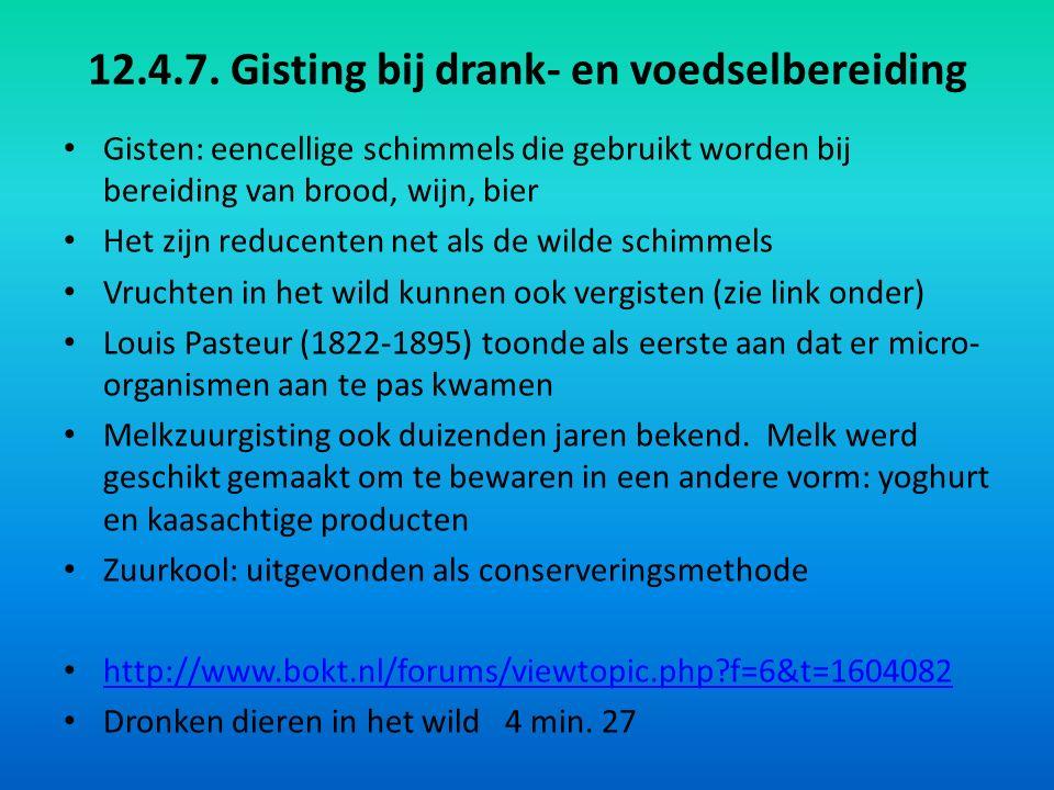 12.4.7. Gisting bij drank- en voedselbereiding