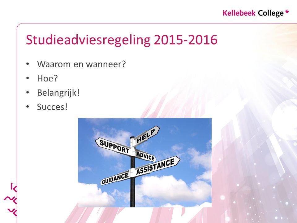 Studieadviesregeling 2015-2016