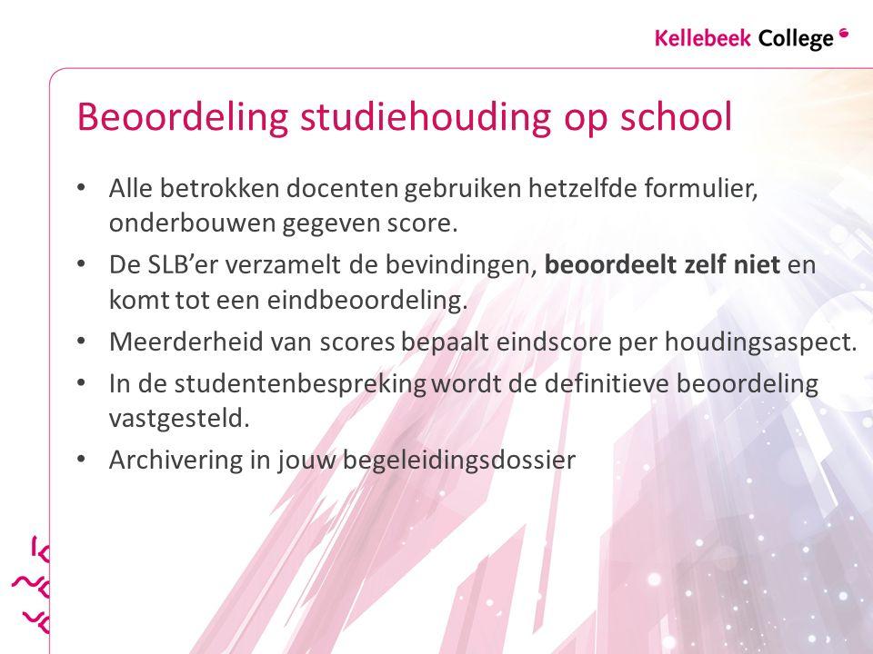 Beoordeling studiehouding op school