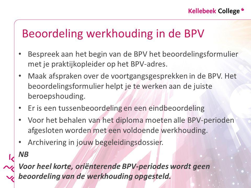 Beoordeling werkhouding in de BPV