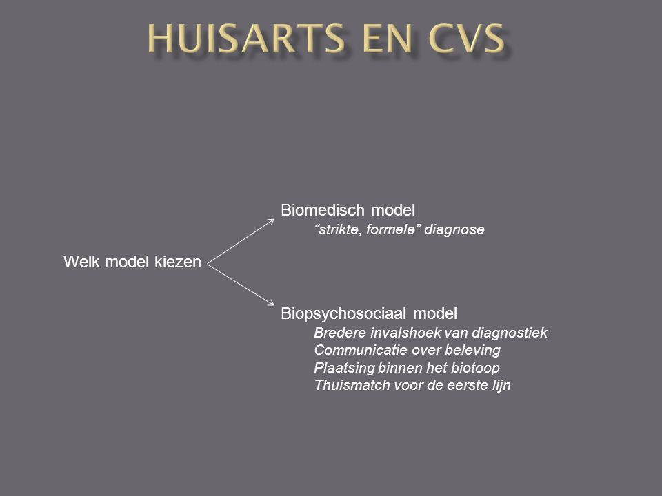 Huisarts en CVS Biomedisch model Welk model kiezen