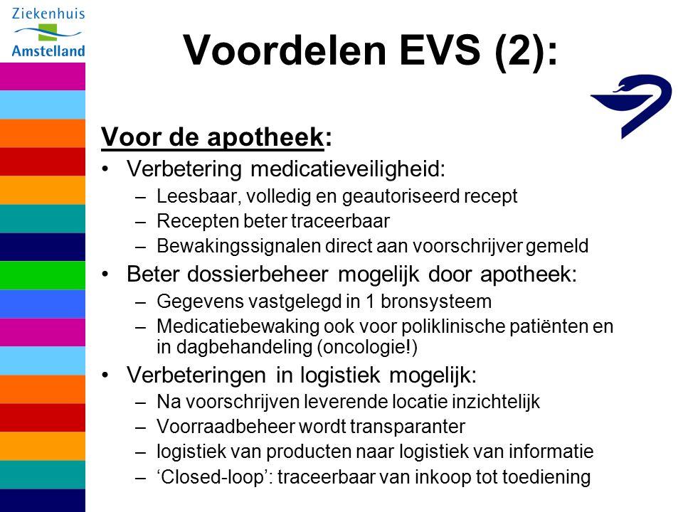 Voordelen EVS (2): Voor de apotheek: Verbetering medicatieveiligheid: