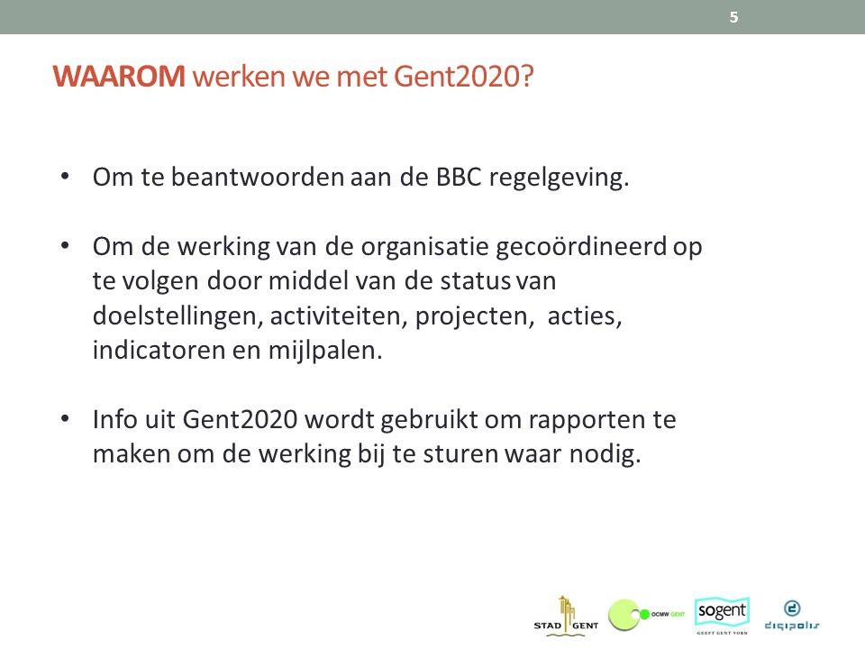 WAAROM werken we met Gent2020