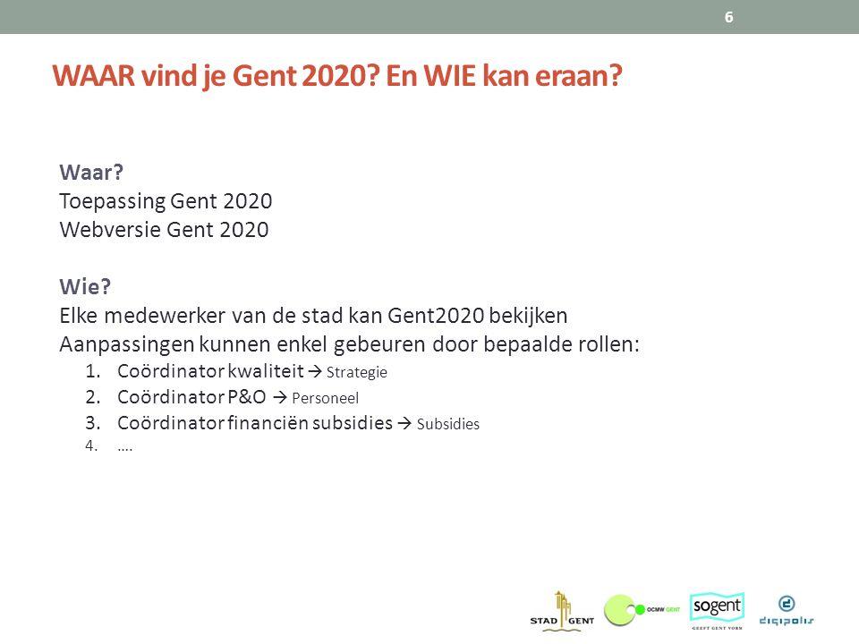 WAAR vind je Gent 2020 En WIE kan eraan