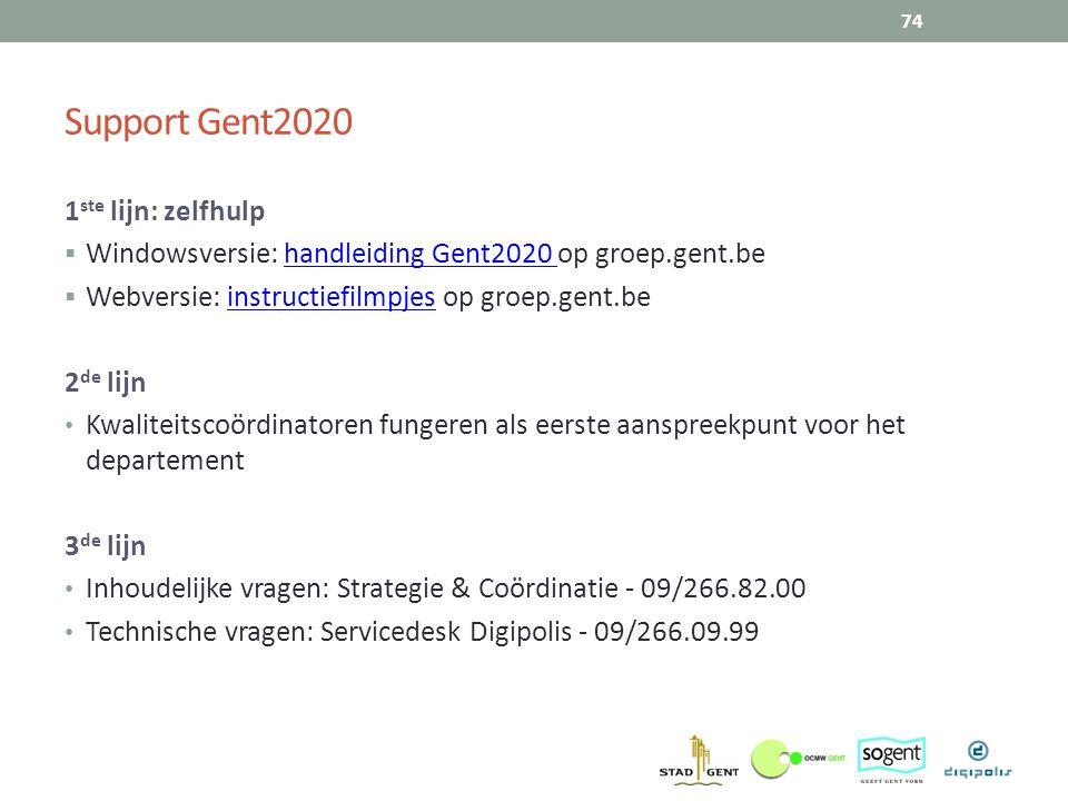 Support Gent2020 1ste lijn: zelfhulp