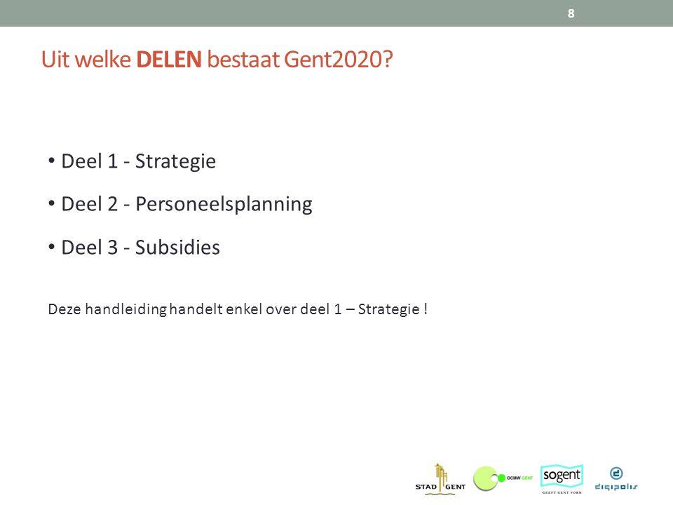 Uit welke DELEN bestaat Gent2020